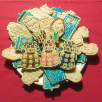 12th Doctor and Clara cookies