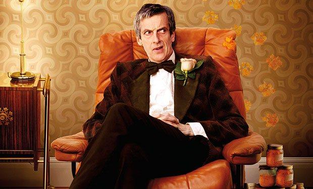 Peter Capaldi mit Fliege