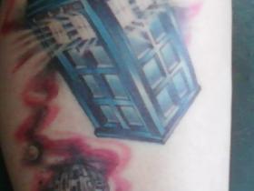 Luna's Tardis Tattoo
