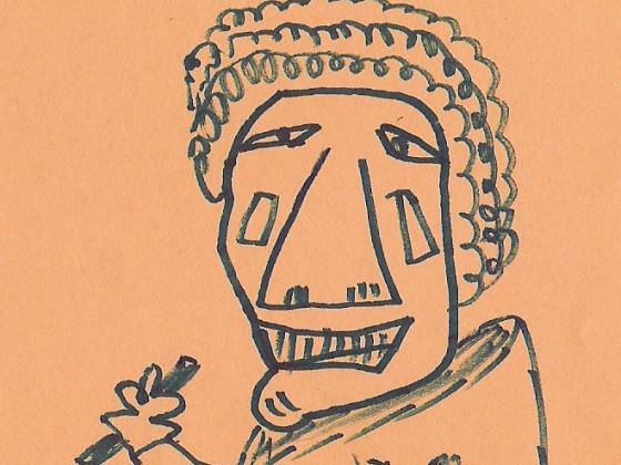 Tom Baker selbstgemalt